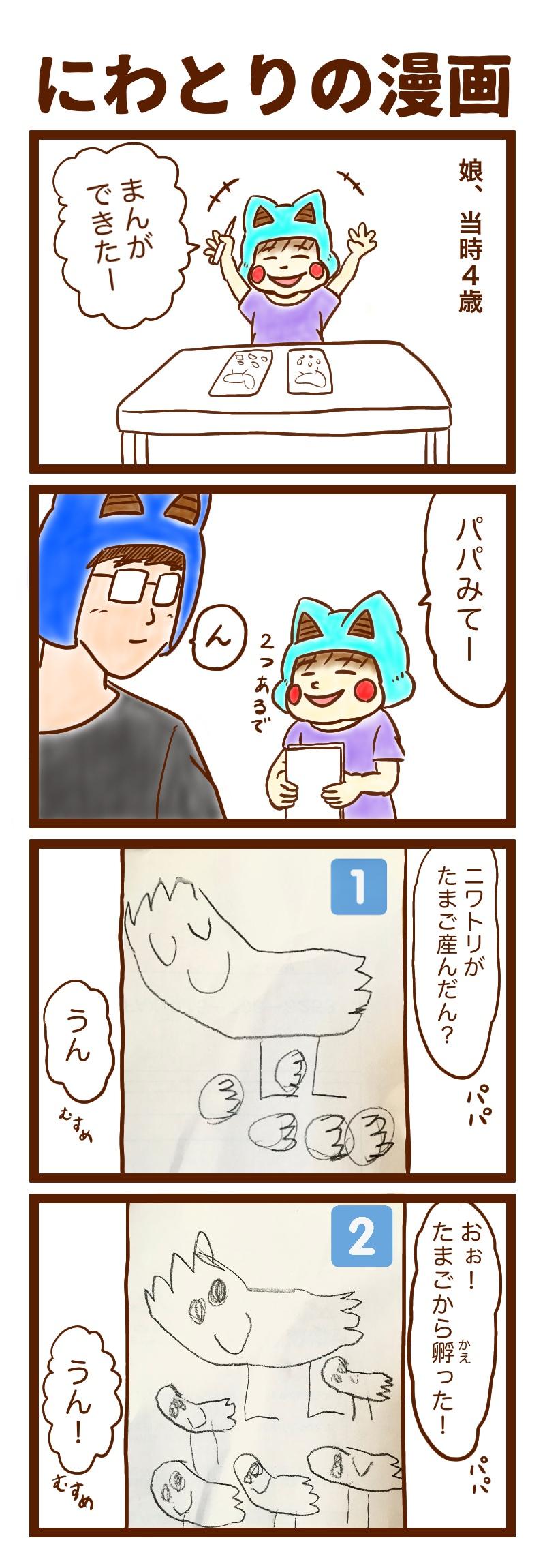 にわとりの漫画