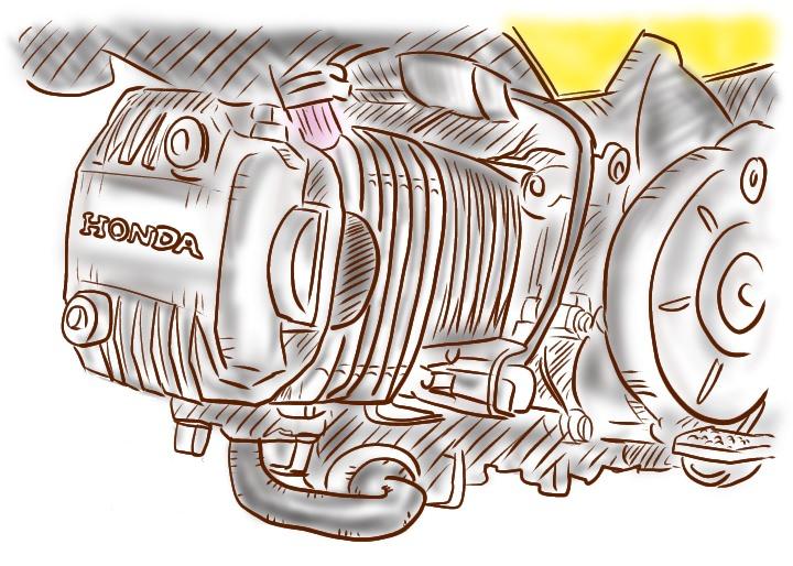 カブ110エンジン